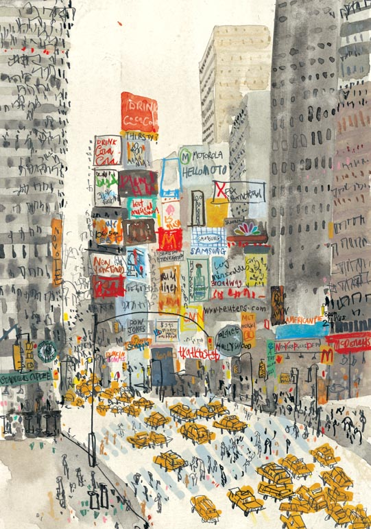 'I DO' Wedding Show - Clare Caulfield limited edition print Times Square New York