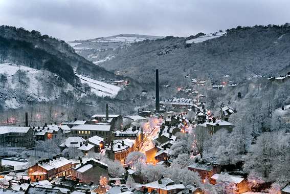 Hebden Bridge at Dusk - Nigel Hilli