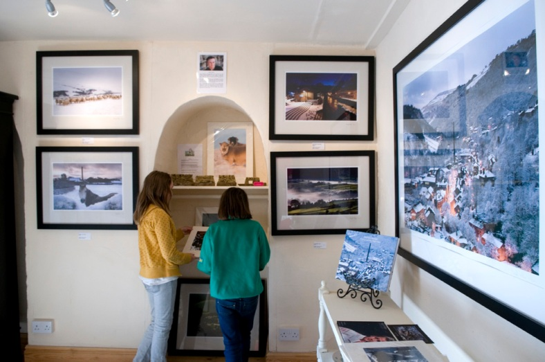 Nigel Hillier's limited edition framed prints hanging in Heart Gallery