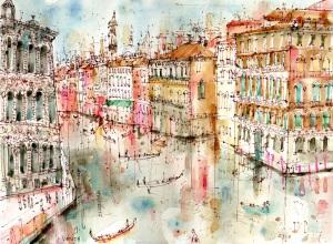 View from Accademia Bridge Venice