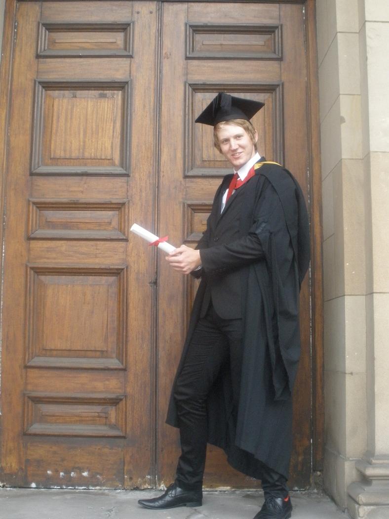 Adam's graduation in Newcastle