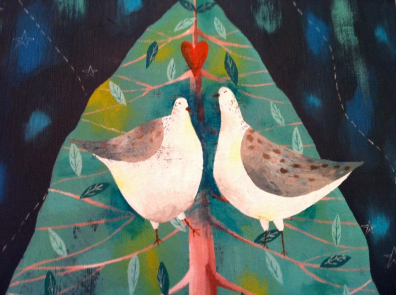 Two Turtle Doves - painted by the super talented Julia Ogden x