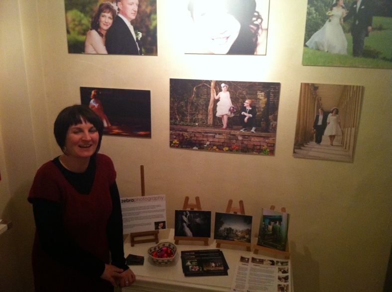 Super talented Sarah Mason with her display of Wedding Photographs at Heart Gallery