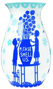 Please Smell Us vase by Rob Ryan £34