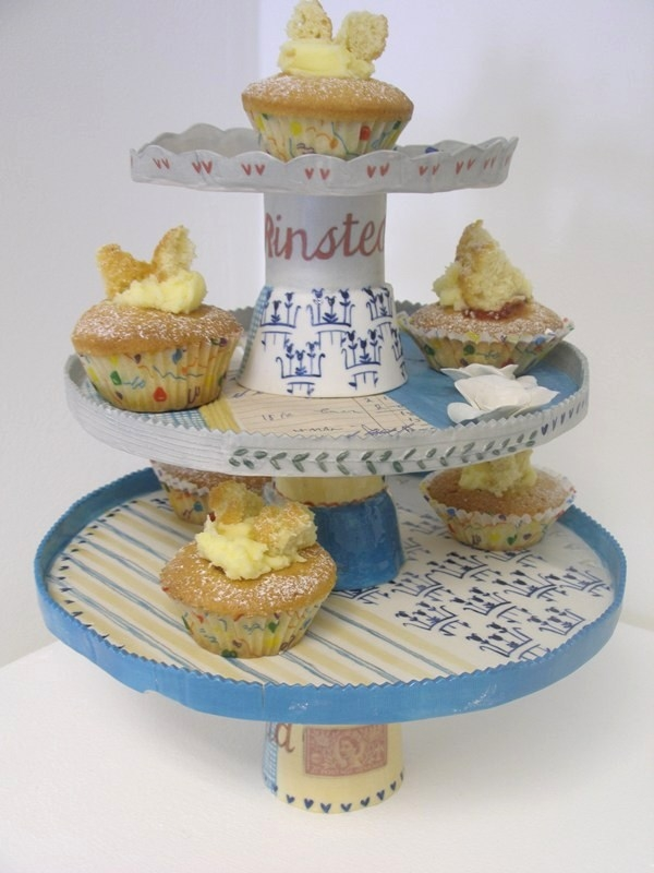 Katie Almond three tier cakestand .... buns not included!