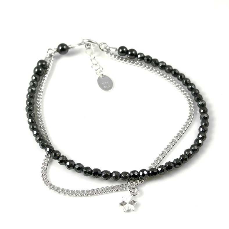 Hematite & star friendship bracelet