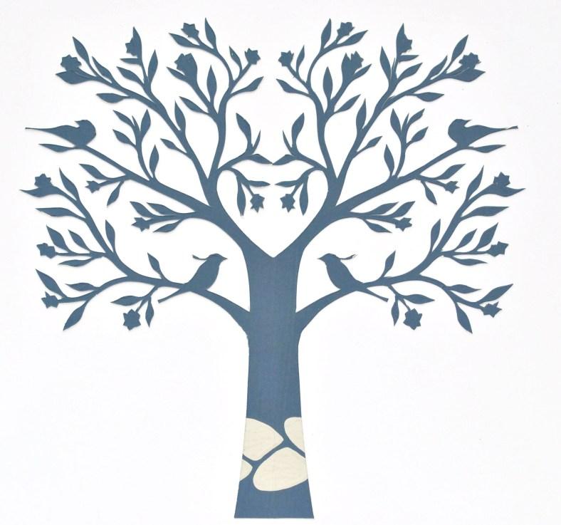 Blue Tree papercut