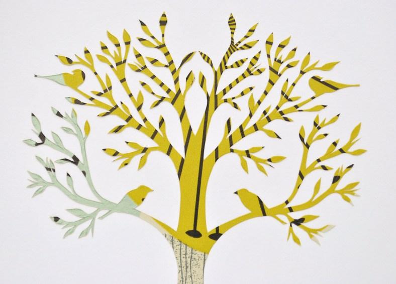 Birds in a Tree papercut