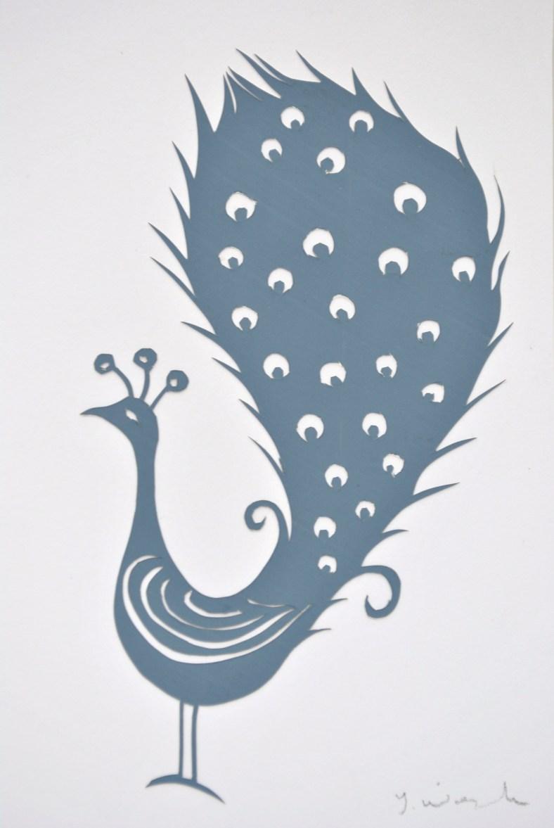 Proud Peacock papercut