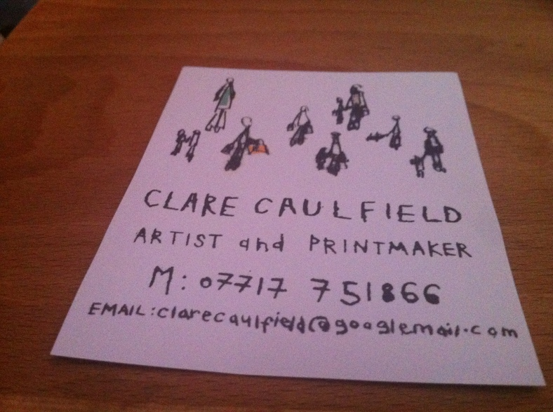 Clare Caulfield - artist and printmaker