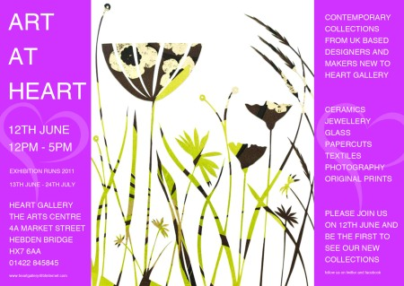 Art At Heart Exhibition Invitation
