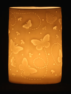 Butterfly tea light holder