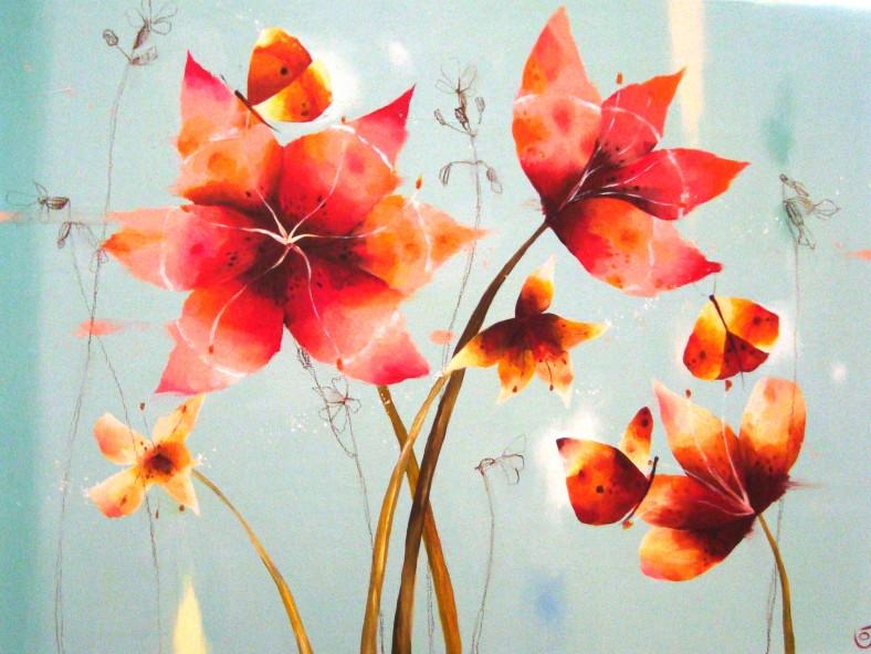 Julia Ogden - Heart Flowers And Butterfly