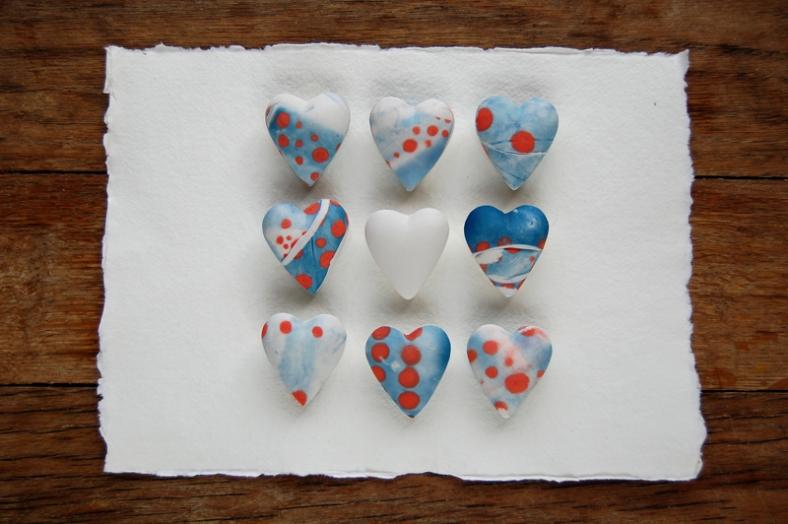 Clare Mahoney tiny ceramic hearts