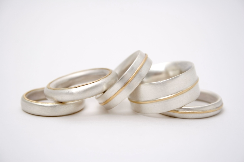 Silver and Gold ring group