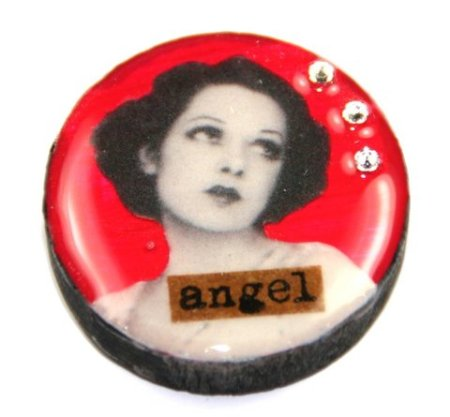 Draught brooch - Angel design