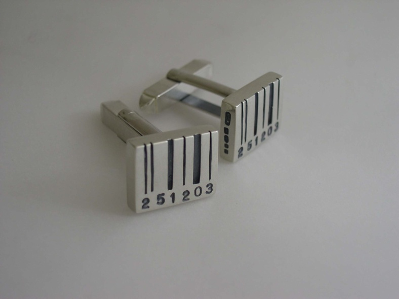 Pippa Knowles - Barcode Cufflinks