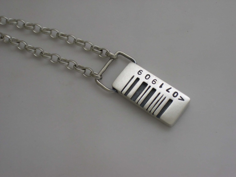 Pippa Knowles - Barcode pendant
