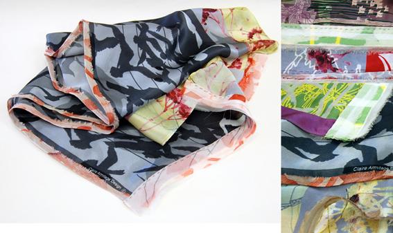 Claire Armitage - scarf details