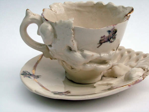 Cherub cup and saucer