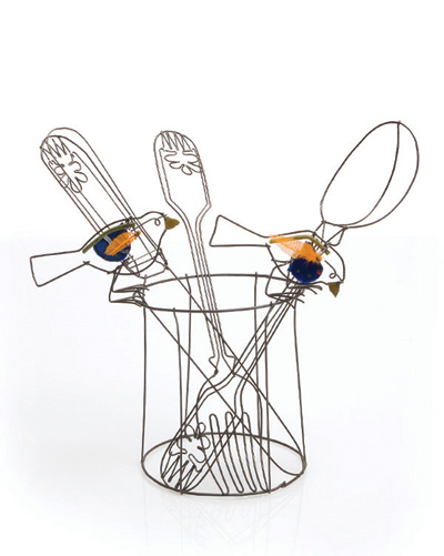 Blue Tits on Cutlery Pot - Cathy Miles