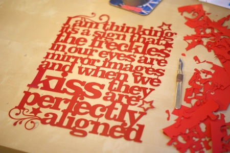 Handcut Papercut - Kyleigh