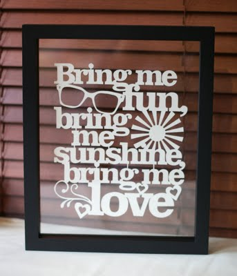Bring Me Sunshine - handcut papercut - Kyleigh