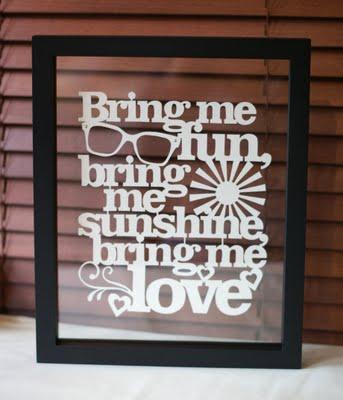Bring Me Sunshine - handcut papercut - Kyleigh