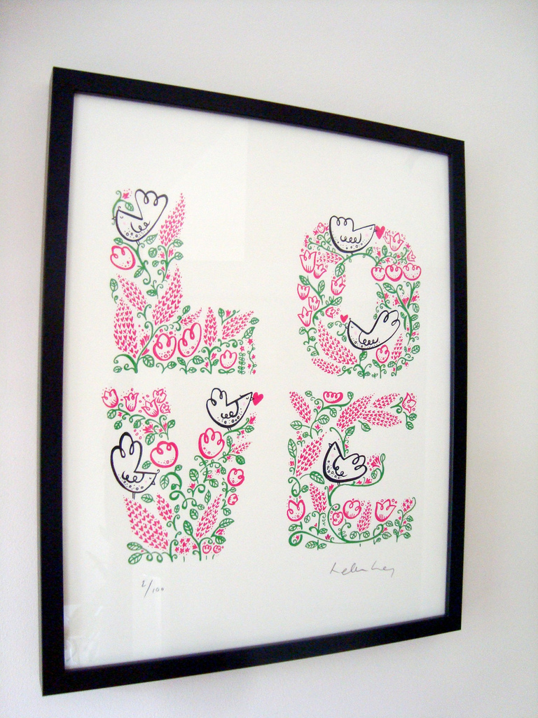 LOVE - framed limited edition screenprint