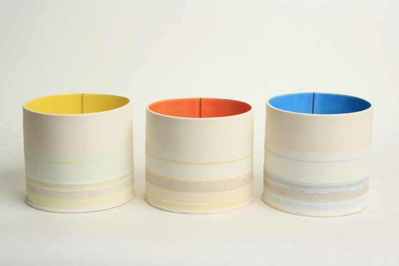 Trio of Small Flower Pots - Rachel Foxwell