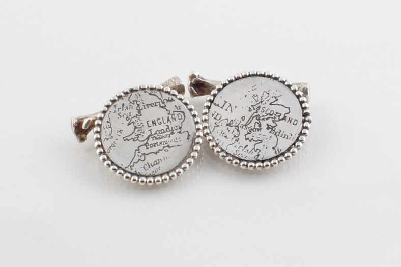 Etched cufflinks - Emily Margaret Hill