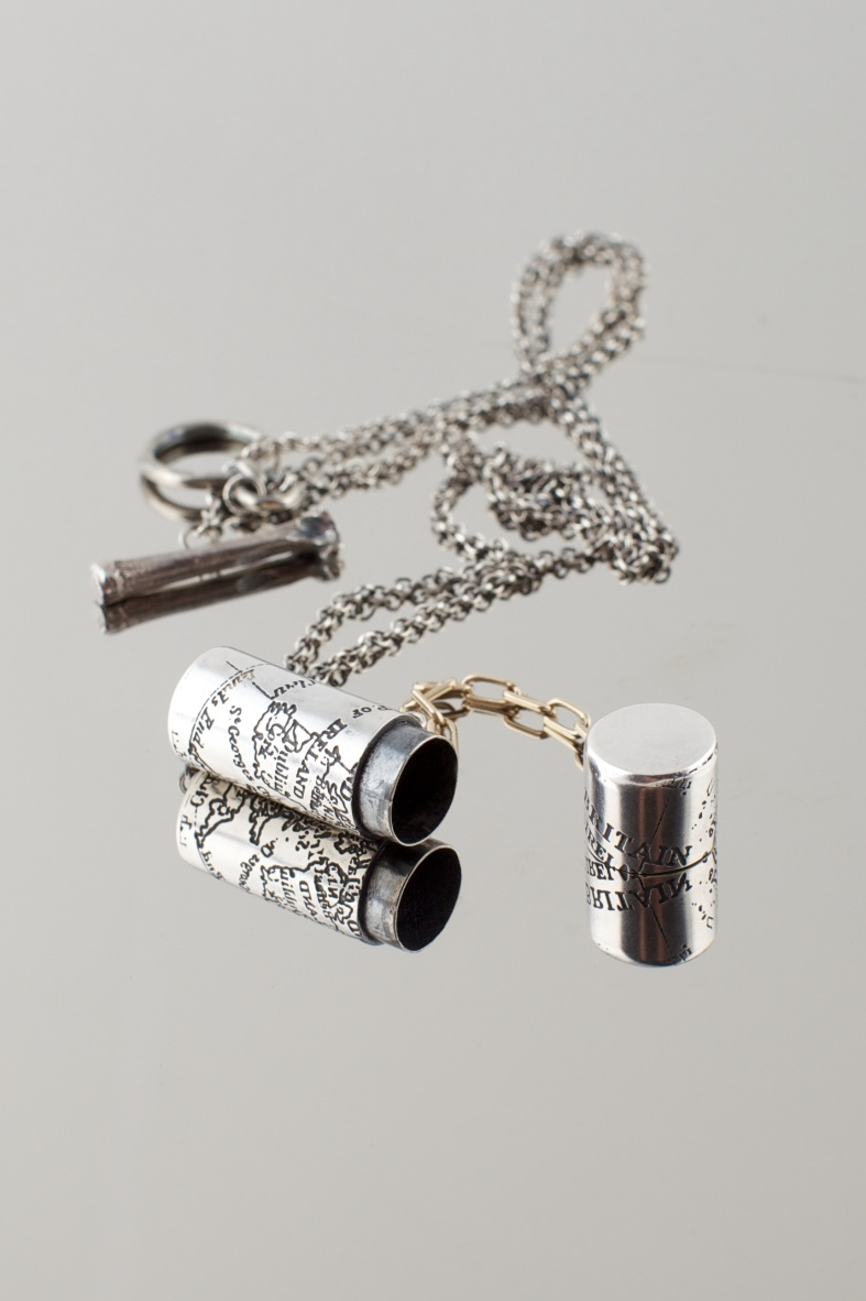 Etched silver locket - Emily Margaret Hill