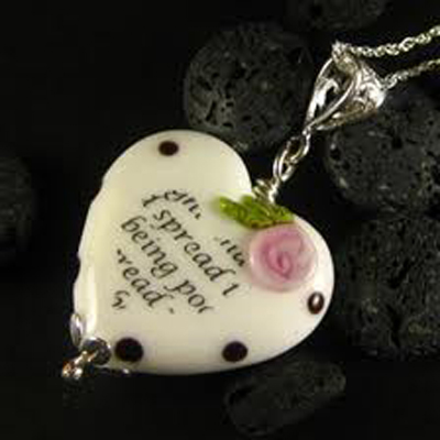 Heart necklace from the Wordsmith range