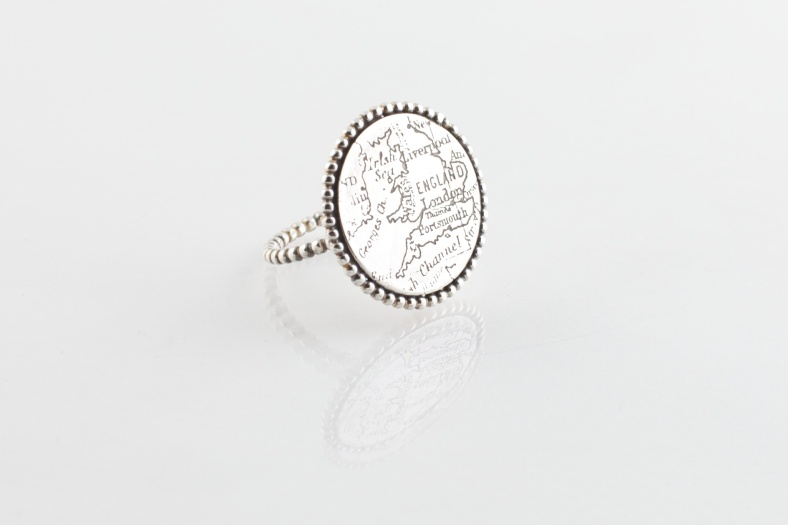 Map Disc Ring - Emily Margaret Hill