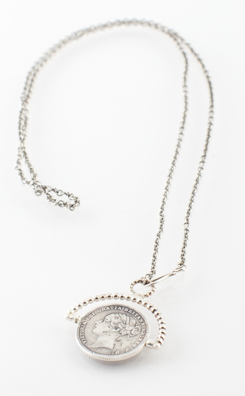 Sixpence necklace - Emily Margaret Hill