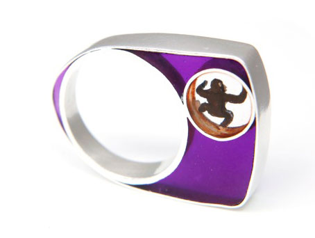 Violet Monkey Ring by Helen Noakes