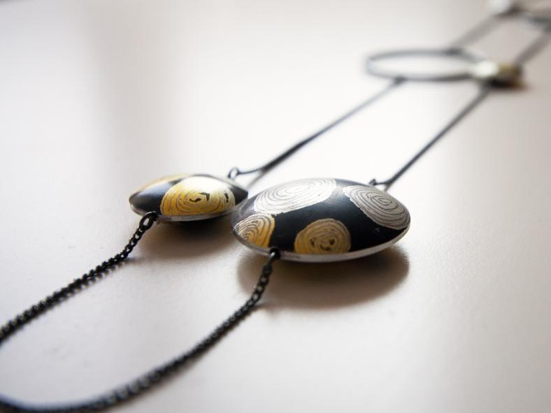 Constellation oxidised silver necklace - Emma Farnworth