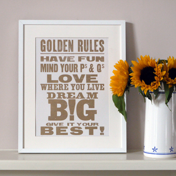 Framed Golden Rules