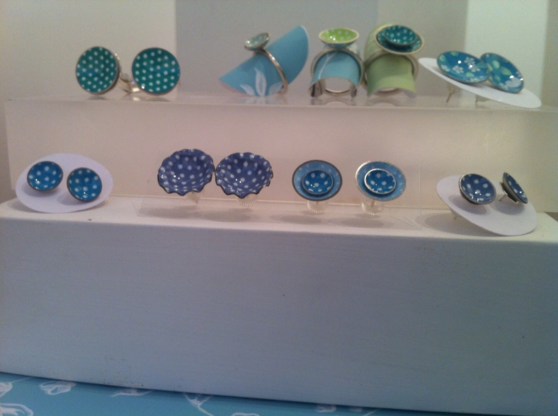 Sally Pawson's colourful aluminium and silver jewellery arrived at Heart just before GNCCF
