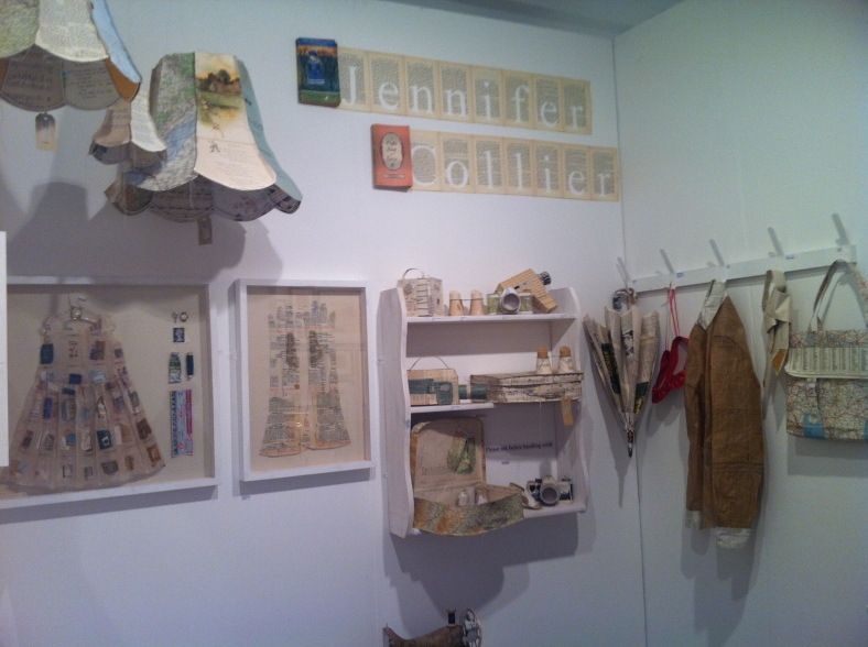 Jennifer Collier's recycled and transformed papers are making a return to Heart Gallery in May 2012