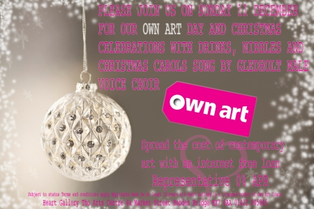 OWN ART DAY AT HEART GALLERY SUNDAY 11 DECEMBER 11AM - 5PM