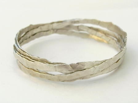 Silver wrapped bangle