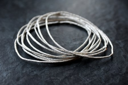 Hope Collection - silver bangles