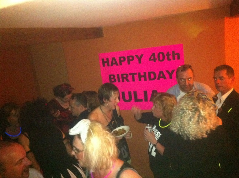Julia's eighties themed 40th Brithday Party