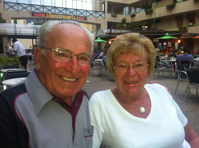 Dad and Sandra in Tenerife