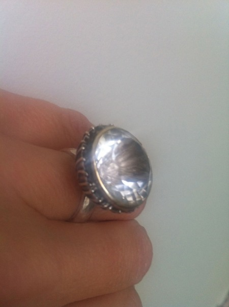 My 15th Wedding Anniversary (Crystal) ring from one of my super talented makers Adele Taylor