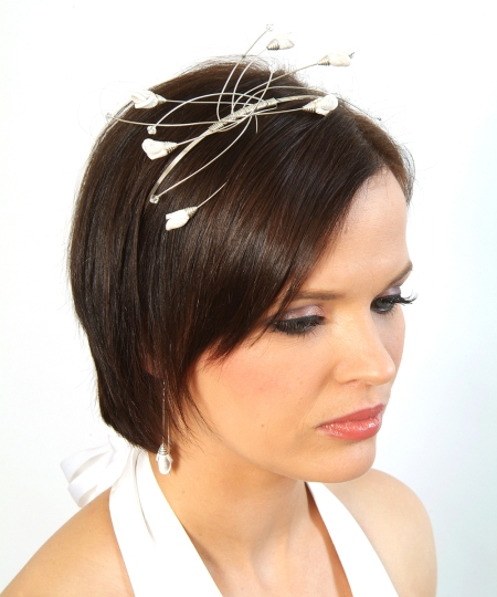 Tanya Igic - leather tiara