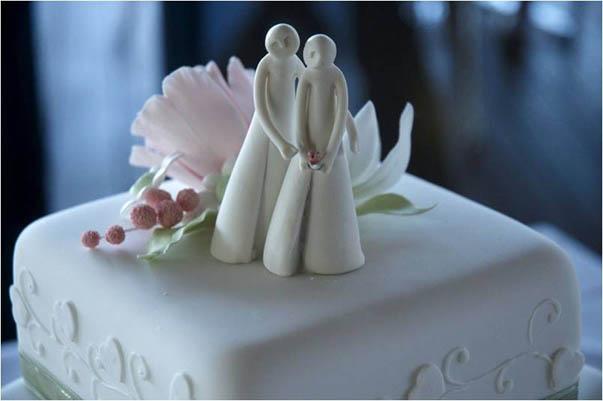 Porcelain cake topper
