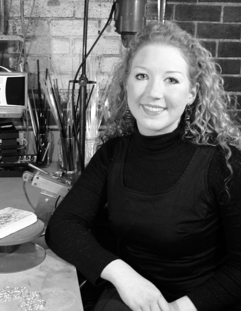Charlotte Verity in her workshop