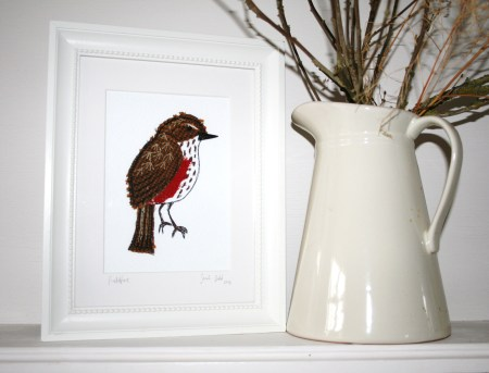 If you know someone who loves birds then Sarah Dodd's textile pieces will make the perfect gift
